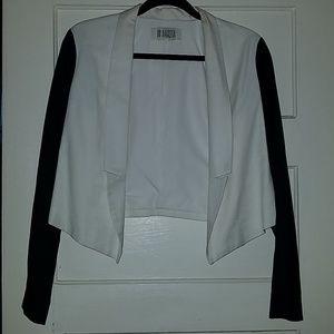 BB Dakota Black and White Color Block Blazer